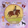 Equestrian Champion on Lavender - Brunette Short Hair Canvas Wall Art