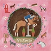 Equestrian Champion on Pink - Red Hair Canvas Wall Art