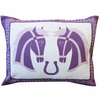 Equestrian Lucky Horses Throw Pillow