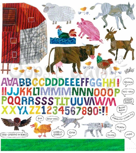 Eric Carle's Farm Peel & Place Wall Stickers
