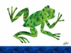 Eric Carle's Frog Canvas Wall Art