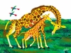 Eric Carle's Giraffe Mother Canvas Wall Art