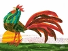 Eric Carle's Rooster Canvas Wall Art
