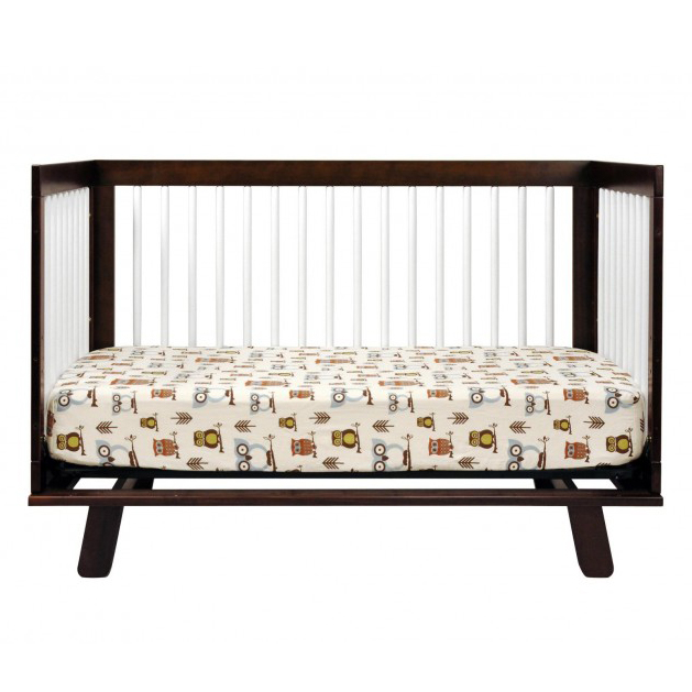Espresso And White Hudson Convertible Crib By Babyletto