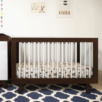 Espresso and White Hudson Convertible Crib