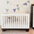 Espresso and White Modo Convertible Crib