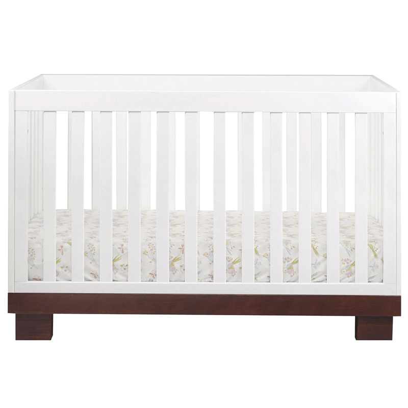 Espresso And White Modo Convertible Crib By Babyletto