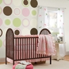 Espresso Brown Baby Dot Wall Decals
