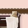 Espresso Brown Baby Scalloped Stripe Wall Decal