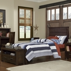 Espresso Highlands Alex Panel Bed
