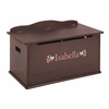 Espresso Personalized Toy Box