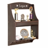 Espresso Personalized Trophy Rack