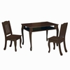 Espresso Windsor Rectangular Table with 2 Chairs Set