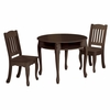 Espresso Windsor Round Table with 2 Chairs Set