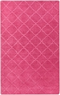 Etching Lattice Rug in Hot Pink