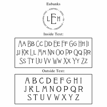 Eubanks Personalized Self-Inking Stamp