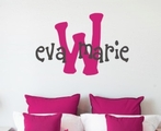Eva Monogram Wall Decal