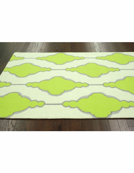Eva Rug in Lime