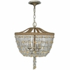 Eva Three Light Jute Thread Crystal Mini Chandelier