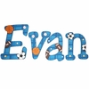 Evan Sports Hand Painted Wall Letters