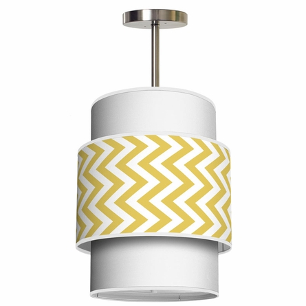 Evan Vertical Chevron Pendant