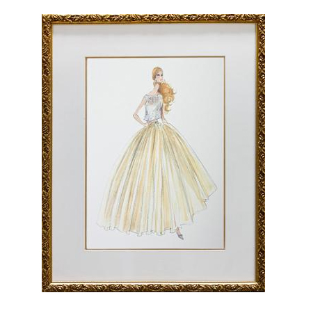 Evening Dress Framed Couture Barbie Art Print By Art For Kids