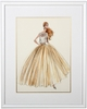 Evening Dress Framed Couture Barbie Art Print