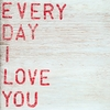 Every Day I Love You Vintage Art Print on Wood