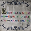 Every Day Is A New Opportunity Small Vintage Art Print on Wood