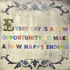 Every Day is a New Opportunity Vintage Canvas Print on Wood