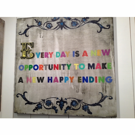 Every Day is a New Opportunity Vintage Art Print on Wood