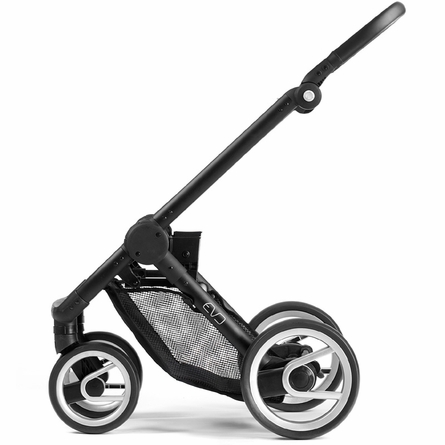 Evo Stroller in Black with Black Frame