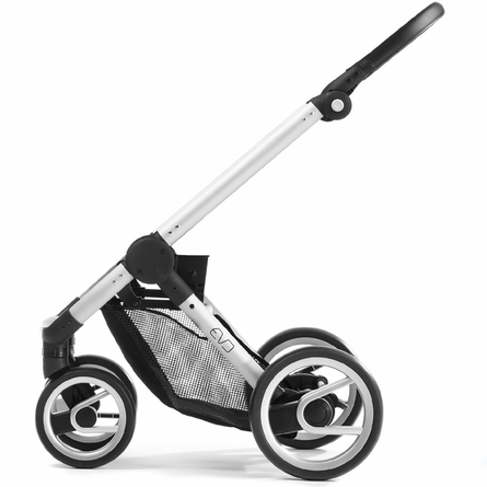 Evo Stroller in Black with Silver Frame