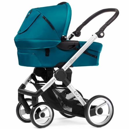 Evo Stroller in Pacific with Silver Frame