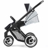 Evo Stroller in White with Black Frame
