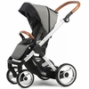 Evo Urban Nomad Stroller in Light Grey with Silver Frame