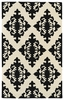 Evolution Diamonds Rug in Black