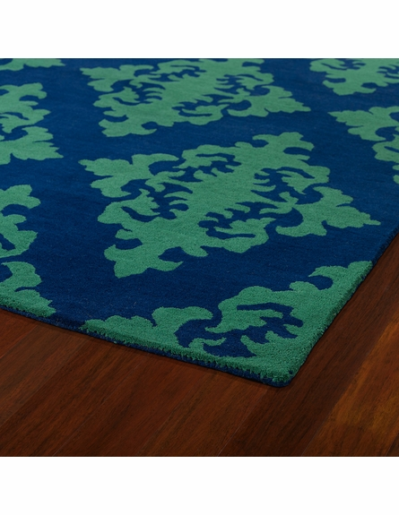 Evolution Diamonds Rug in Navy