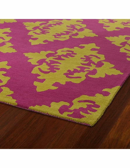 Evolution Diamonds Rug in Pink