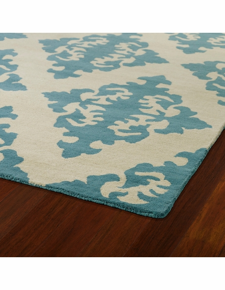Evolution Diamonds Rug in Spa Blue