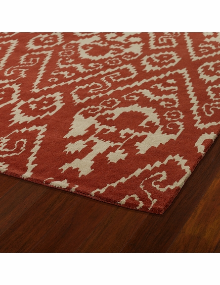 Evolution Ikat Rug in Salsa