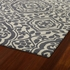 Evolution Mod Floral Rug in Grey