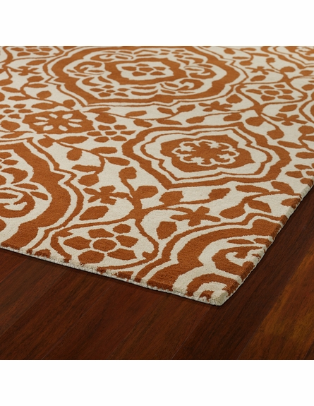 Evolution Mod Floral Rug in Orange