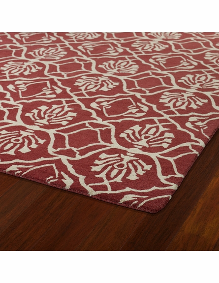 Evolution Petite Damask Rug in Berry