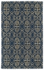 Evolution Petite Damask Rug in Denim Blue