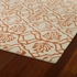 Evolution Petite Damask Rug in Ivory and Orange