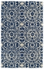 Evolution Suzani Rug in Navy