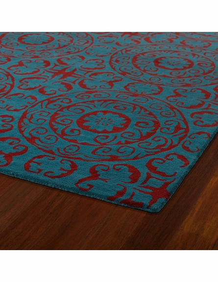 Evolution Suzani Rug in Peacock