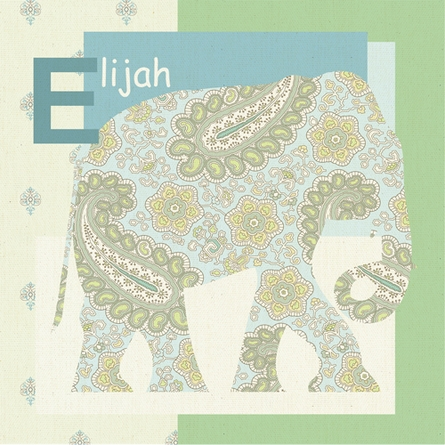 Exotic Elephant Canvas Wall Art