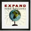 Expand Your Horizons Framed Art Print